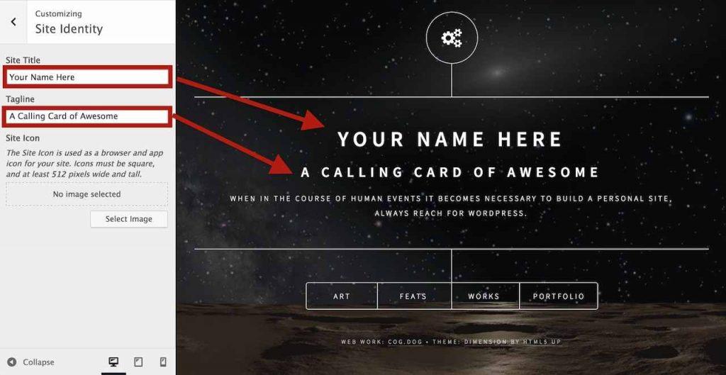 Dimension Calling Card